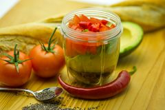 Ingredients-Salsa-11 Stockfoto