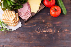 Ingredients for sandwich. Royalty Free Stock Photography