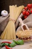 Ingredients for seasoning pasta Stock Photo