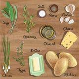 Ingredients Royalty Free Stock Photos