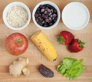 Ingredients for smoothie Stock Image