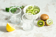 Ingredients for smoothies from kiwi Stock Images