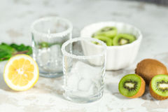 Ingredients for smoothies from kiwi Stock Image