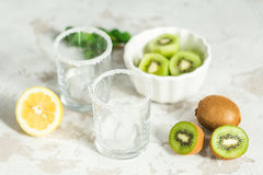 Ingredients for smoothies from kiwi Royalty Free Stock Photo