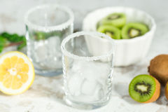 Ingredients for smoothies from kiwi Royalty Free Stock Photography