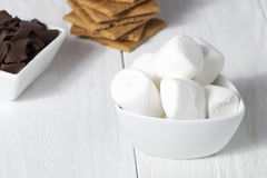 Ingredients of smores Royalty Free Stock Images