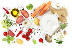Ingredients for soup Royalty Free Stock Photography