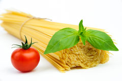 Ingredients for spaghetti Royalty Free Stock Images