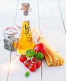 Ingredients For Spaghetti Stock Photos