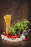 Ingredients for spaghetti Royalty Free Stock Image