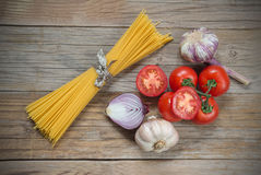 Ingredients for spaghetti Royalty Free Stock Photos