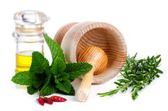 Ingredients and spice for food Stock Photography