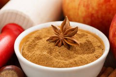 Ingredients and spices for apple pie, close-up Stock Image