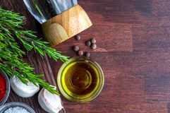 Ingredients and spices for roasts. stock images
