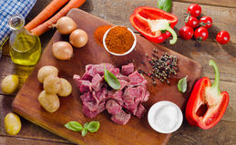 Ingredients for stew Royalty Free Stock Photo