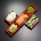 Ingredients for sush Royalty Free Stock Image