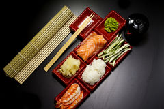 Ingredients for sush Stock Image