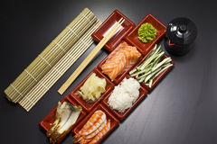 Ingredients for sush Royalty Free Stock Photo