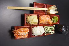 Ingredients for sush Royalty Free Stock Photography