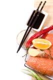Ingredients for sushi Royalty Free Stock Image
