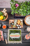 Ingredients for sushi Royalty Free Stock Photo