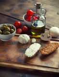 Ingredients  on table. Ingredients  on a cutting board Stock Photos