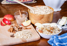Oatmeal Preparation Stock Images