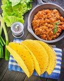 Ingredients for taco Royalty Free Stock Images