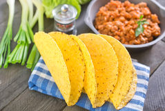 Ingredients for taco. In bowl royalty free stock photo