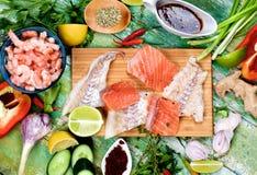 Ingredients of Thai Fish Cakes Royalty Free Stock Photos