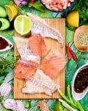 Ingredients of Thai Fish Cakes Royalty Free Stock Image