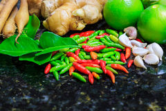 Ingredients thai food Stock Image