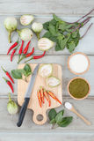 Ingredients for Thai green curry. Stock Photography