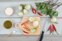 Ingredients for Thai green curry. Royalty Free Stock Images