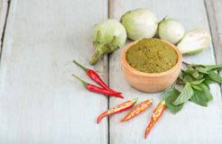Ingredients for Thai green curry. Royalty Free Stock Photo