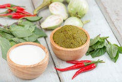 Ingredients for Thai green curry. Royalty Free Stock Photos