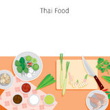 Ingredients Of Thai Soup, Tom Yum Kung Royalty Free Stock Photos