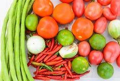 Ingredients of Thai spicy papaya salad. Ingredients of Thai spicy  papaya salad or know as Som Tum Stock Images