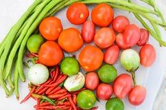 Ingredients of Thai spicy papaya salad. Ingredients of Thai spicy  papaya salad or know as Som Tum Royalty Free Stock Image