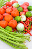 Ingredients of Thai spicy papaya salad. Ingredients of Thai spicy  papaya salad or know as Som Tum Stock Image