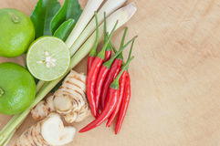 """Ingredients for Thai's Cuisine """"TOM YUM"""" Royalty Free Stock Image"""