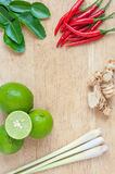 """Ingredients for Thai's Cuisine """"TOM YUM"""" Royalty Free Stock Photo"""