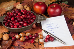 Ingredients for thanksgiving Royalty Free Stock Images