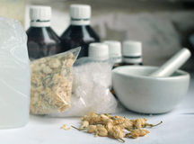 Ingredients. To create handmade soap Stock Images
