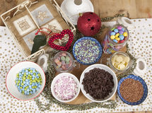 Ingredients to Decorate with. Stock Photography