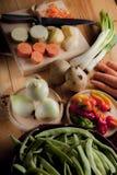 Ingredients to prepare vegan or vegetarian food, healthy food fo stock photography