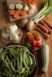 Ingredients to prepare vegan or vegetarian food, healthy food fo stock photo