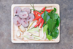 Ingredients of Tom Yum Stock Images