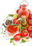 Ingredients for tomato sauce Royalty Free Stock Photo