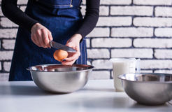 Ingredients and tools to make a cake Stock Photography